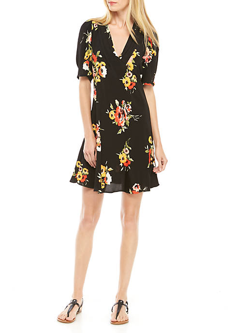 Free People Neon Garden Mini Dress