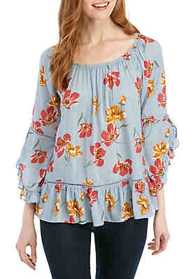 44f27f3cac459 Fever Ruffle Sleeve Top ...