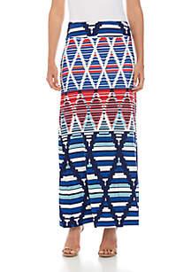 Fever Printed Maxi Skirt