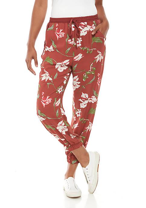 Floral Print Woven Pants