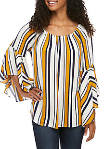 Fever Stripe Woven Influencer Top