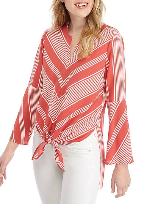 Fever High Low Stripe Tunic