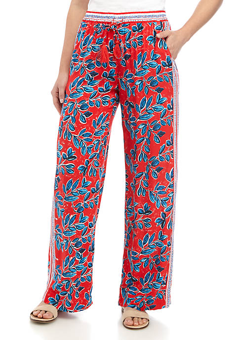 Fever Wide Leg Print Pants