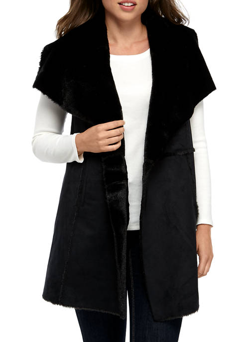 Fever Womens Faux Suede Vest