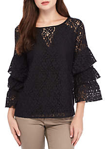 Tier Sleeve Lace Top