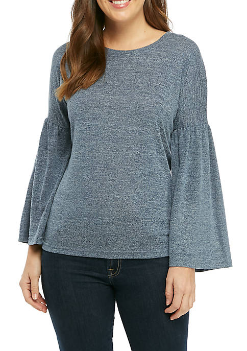 Fever Bell Sleeve Knit Sweater