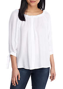 5ce1189c91c44 ... Fever Off The Shoulder Button Up Woven Top