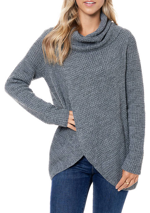 Fever Womens Waffle Knit Sweater