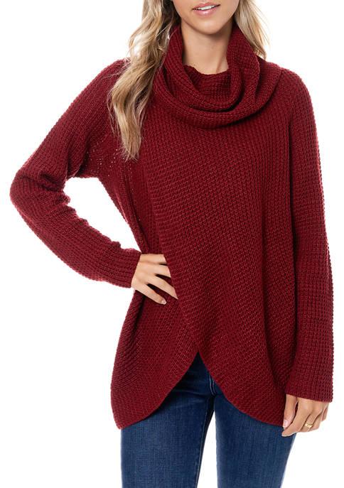Womens Waffle Knit Sweater