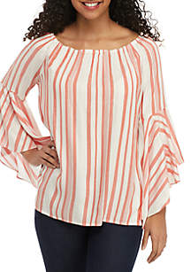 Fever Symphony Sleeve Stripe Top