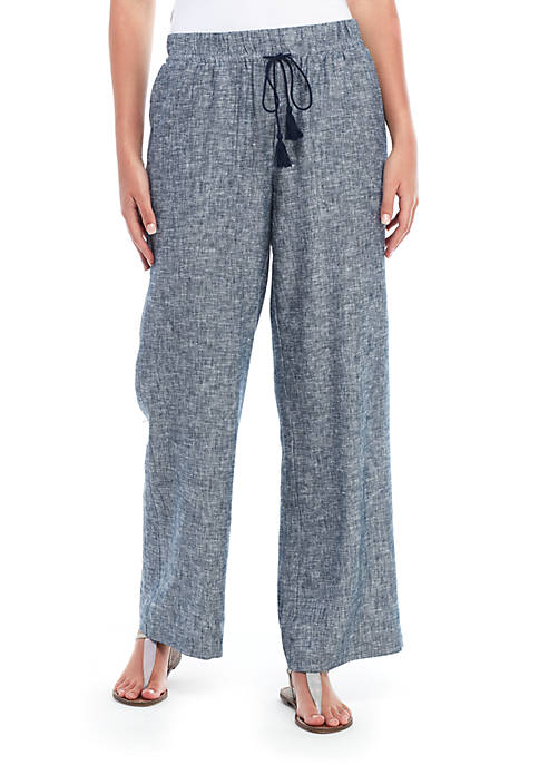 Fever Solid Yarn Dyed Pants