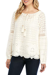 Fever Crochet Starry Garden Woven Top