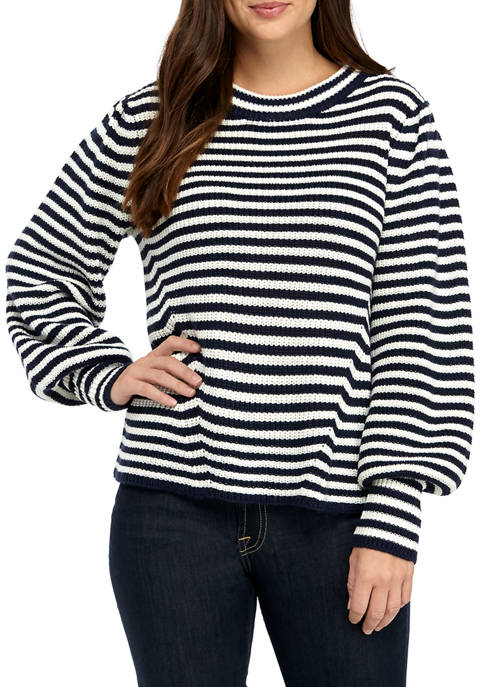 Fever Womens Stripe Knit Sweater