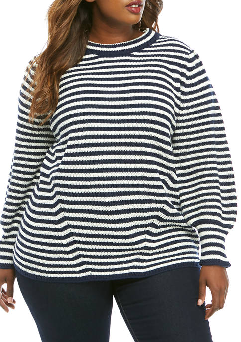 Fever Plus Size Striped Sweater