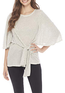 Tie Front Oversized Top