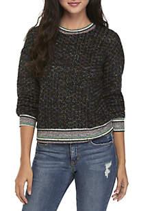 Multi-Yarn Tipped Sweater