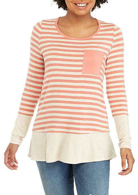 Belle du Jour Long Sleeve Pink and Oat