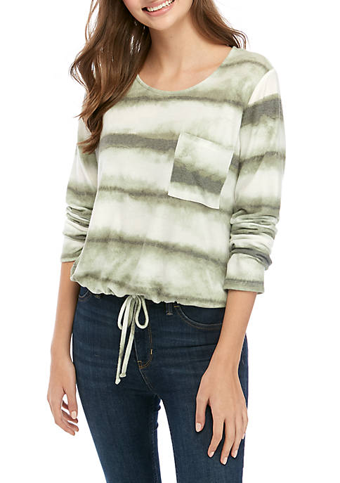 Belle du Jour Juniors Long Sleeve Hacci Knit