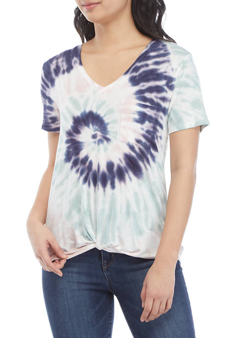 Belle du Jour Juniors Short Sleeve Tie-Dye Twist