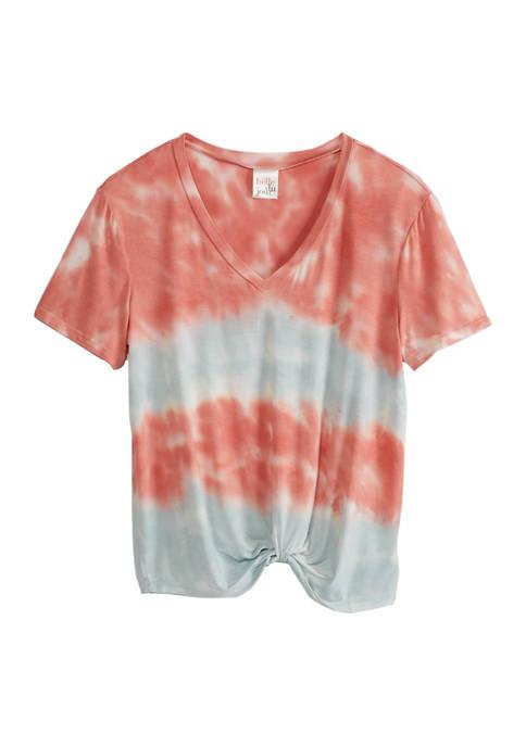 Short Sleeve Twist Tie Dye Shirt