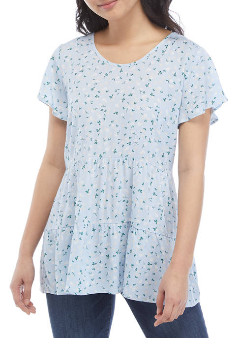 Belle du Jour Juniors Short Sleeve Tiered Woven