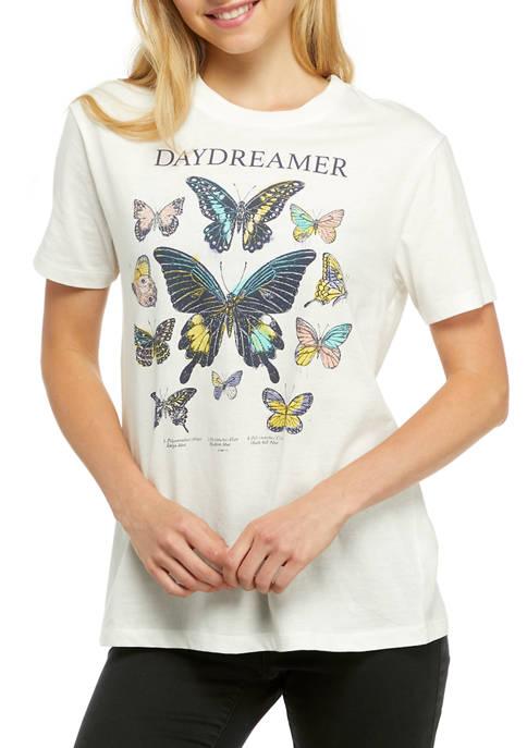 Belle du Jour Juniors Short Sleeve Butterfly Graphic
