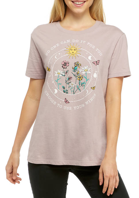 Belle du Jour Juniors Short Sleeve Celestial Floral