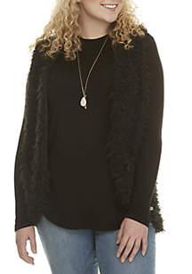 Plus Size Fuzzy 3fer Vest Set