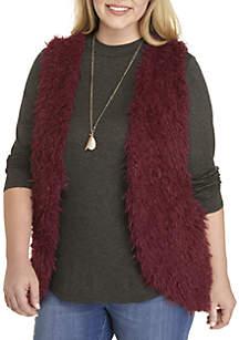 Plus Size Fuzzy 3Fer Vest