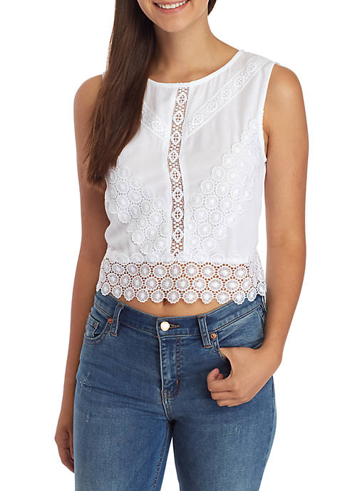 Belle du Jour Lace Detail Back Tie Tank