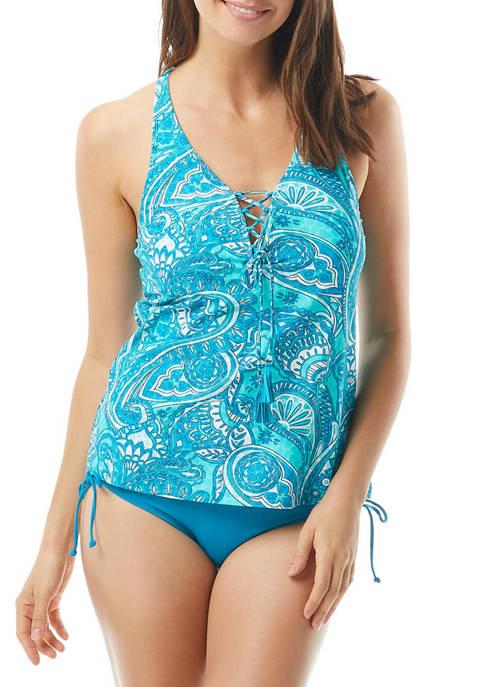 Beach House Courtney Lace-Up Swim Tankini