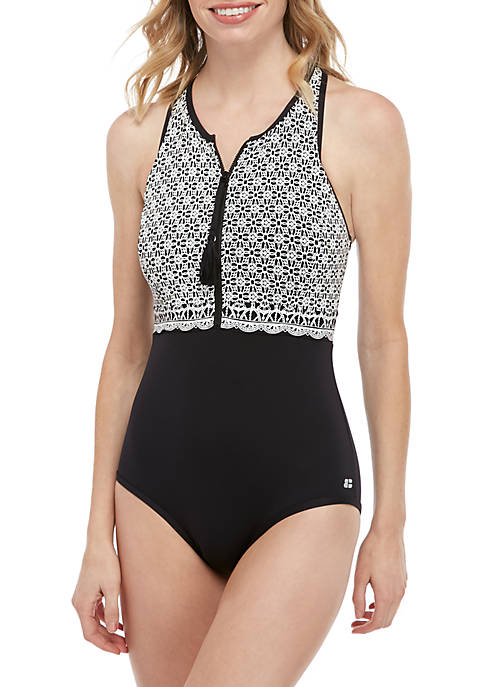 Beach House Victory Racerback One Piece Swimsuit