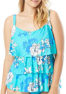 69853c3c83a63 ... Beach House Plus Size Garden State Jane Ruffle Tankini Swim Top