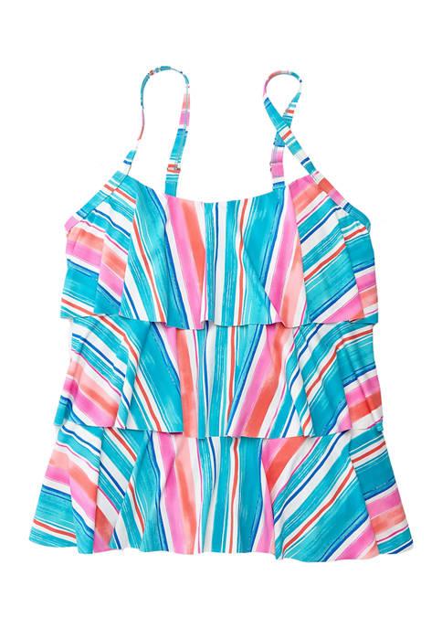 Plus Size Jane Ruffle Swim Tankini Top