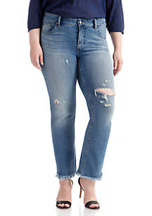 Plus Size Lolita Straight Jeans