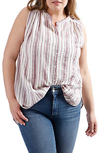 Plus Size Stripe Tunic
