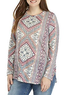 Plus Size Lucky Tapestry Top