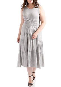 Open Back Smocked Dress