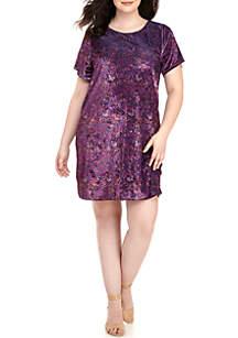 Plus Size Velvet Tee Dress