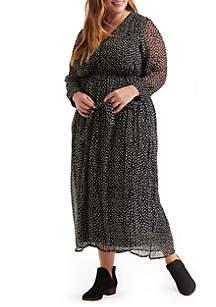 Plus Size Polka Dot Maxi Dress