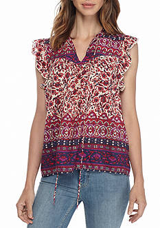 Lucky Brand Lucy Peasant Top