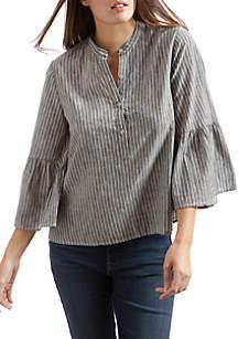 Stripe Bell Sleeve Top