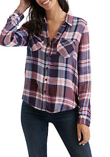 Plaid Woven Top