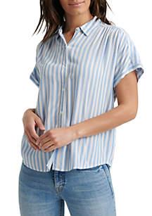 Lucky Brand Short Sleeve Stripe Shirt