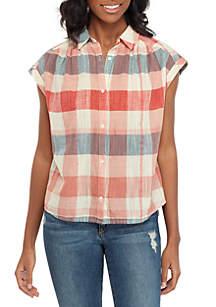 Lucky Brand Plaid Short Sleeve Shirt