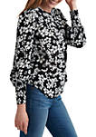 Womens Smocked Cuff Top