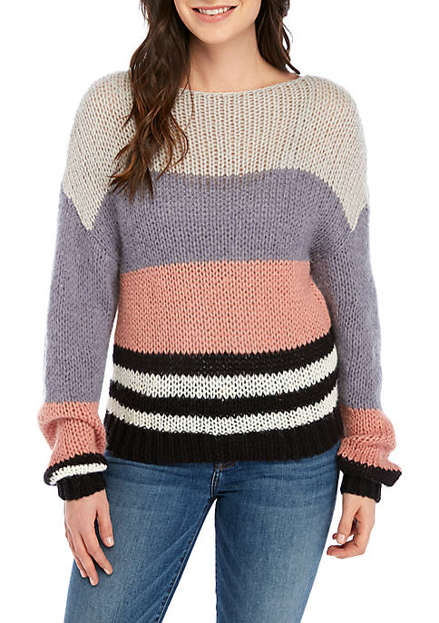 Bold Stripe Pullover Sweater