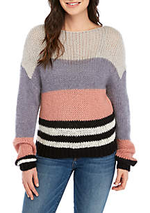 Bold Stripe Pullover Sweater