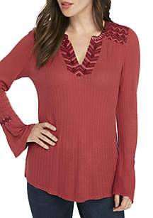 Needle Embroidered Top