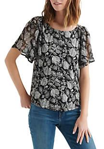 Lucky Brand Printed Woven Top